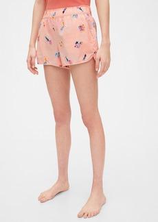 Gap Print Shorts in Poplin