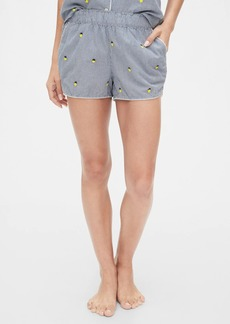 Gap Print Shorts in Poplin