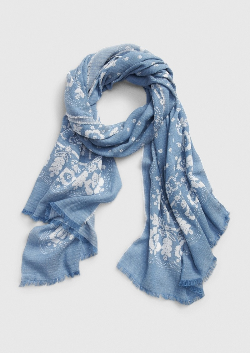 Gap Printed Oblong Scarf