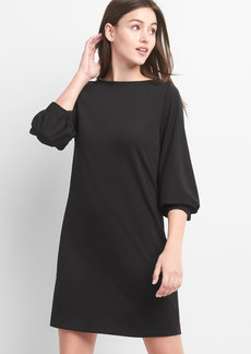 Puff Sleeve Shift Dress in Ponte