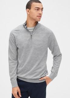 Gap Quarter-Zip Mockneck Sweater in Merino Wool
