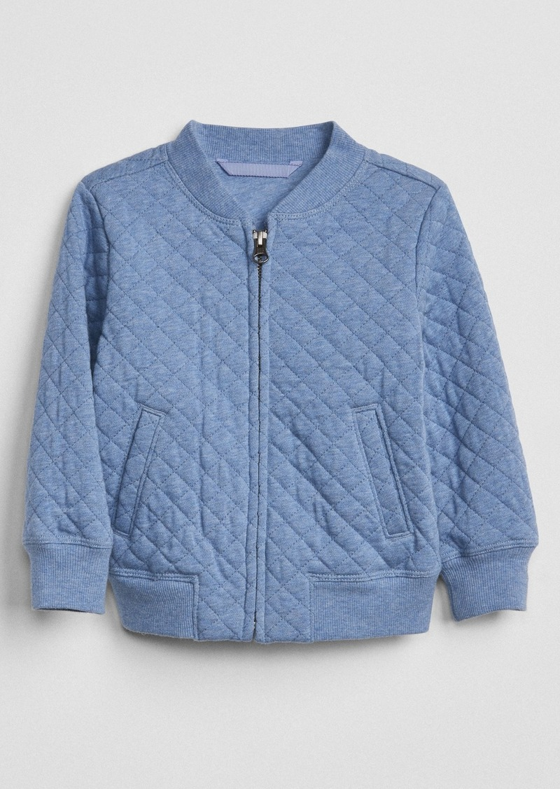 Gap Quilted Bomber Jacket Sweaters