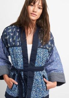 Gap Quilted Mix-Print Kimono Jacket