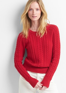 Gap Raglan cable-knit sweater