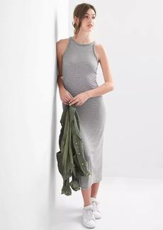 Rib-knit racerback maxi dress