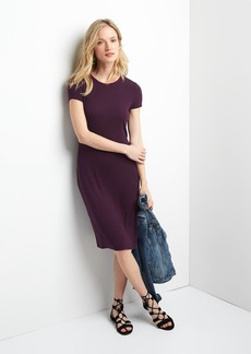 Rib-knit t-shirt dress