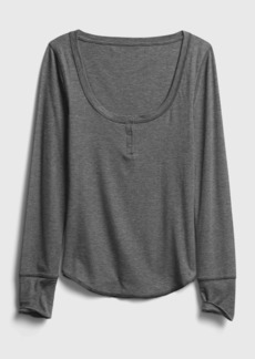 Gap Ribbed Drop Needle Henley Shirt