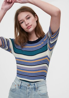 Gap Ribbed Elbow Sleeve Sweater