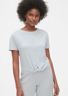 Gap Ribbed Knot-Hem T-Shirt