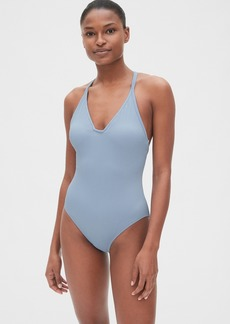 Gap Ribbed Racerback One-Piece Suit