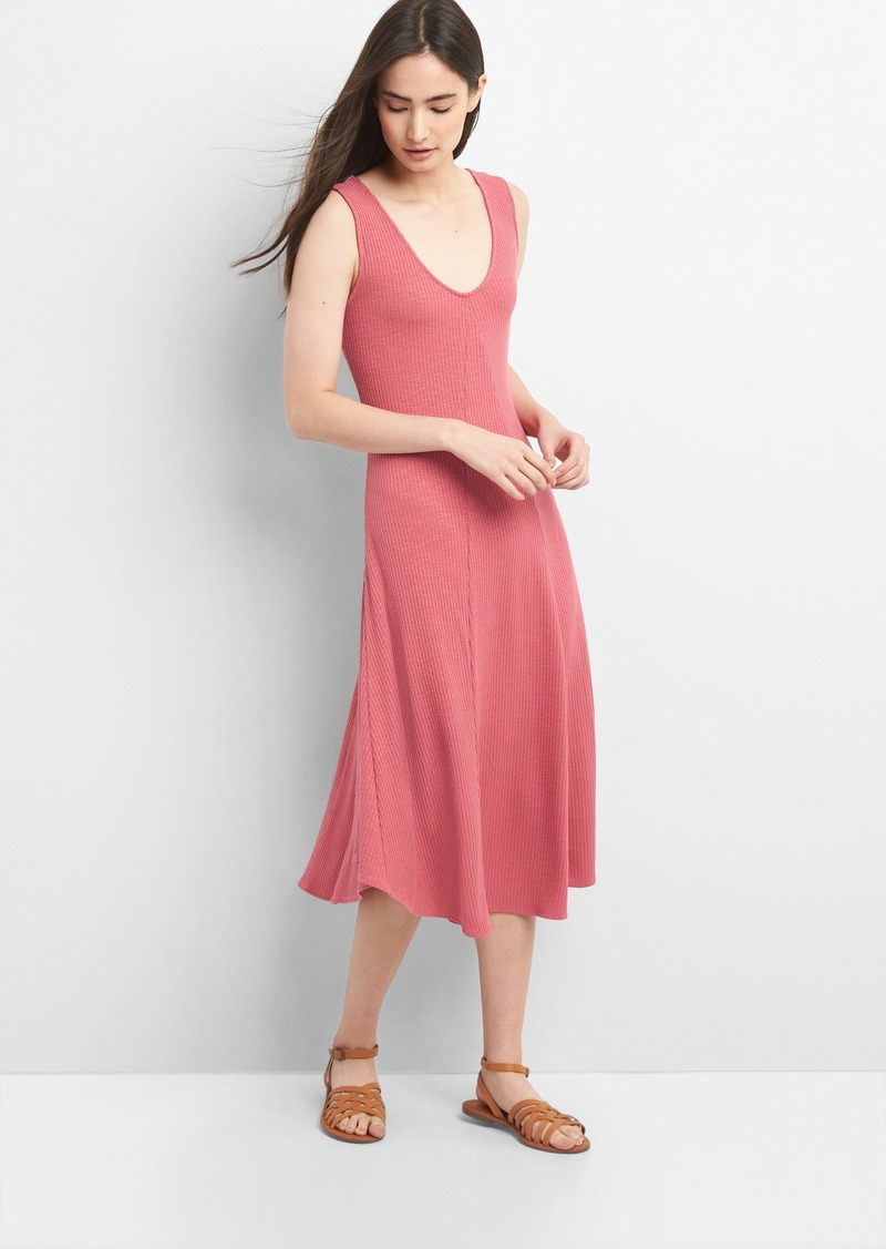 b606279bf60 Gap Ribbed Softspun Sleeveless Midi Dress