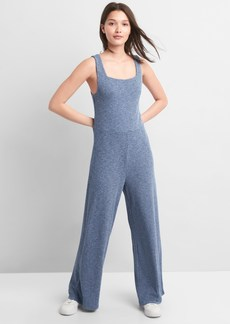 Gap Ribbed Softspun Square-Neck Jumpsuit