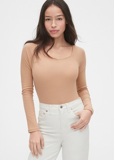 Gap Ribbed Squareneck Bodysuit