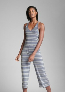 Gap Ribbed Stripe Crop Wide-Leg Pants