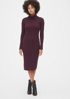 Gap Ribbed Turtleneck Midi Sweater Dress