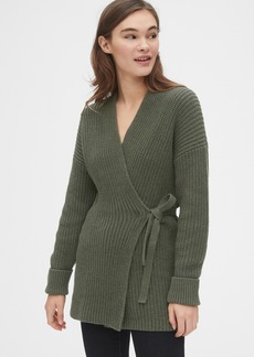 Gap Ribbed Wrap Cardigan Sweater