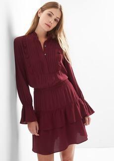 Ruffle pintuck dress