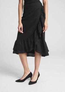 Gap Ruffle Wrap Midi Skirt