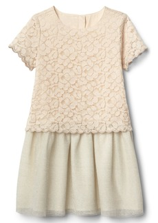 Gap Scalloped double-layer dress