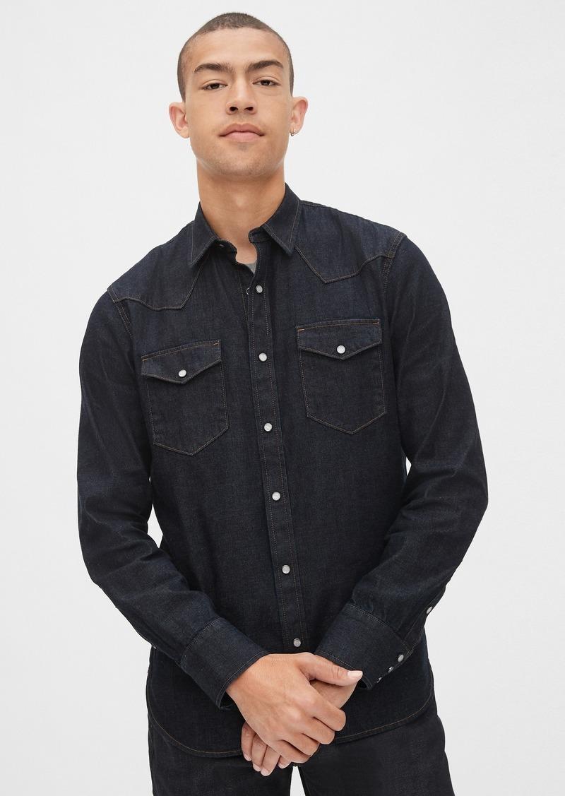 Gap Selvedge Western Denim Shirt