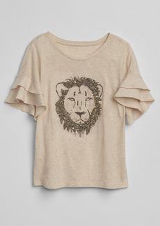 Gap Sequin Graphic Ruffle T-Shirt