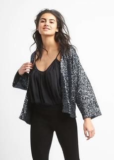 Sequin kimono jacket