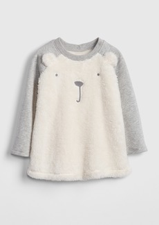 Gap Sherpa Bear Sweatshirt Dress