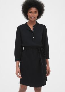 Gap Shirred Popover Denim Shirtdress