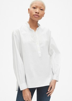 Gap Shirred Popover Shirt