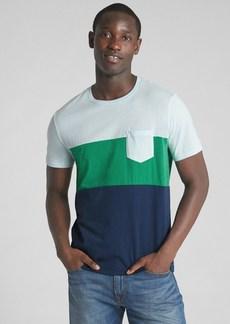 Gap Short Sleeve Colorblock Pocket T-Shirt