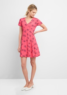 Gap Short Sleeve Fit and Flare Dress