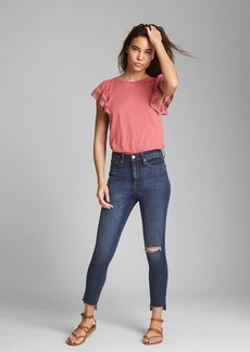 Gap Short Sleeve Ruffle Top