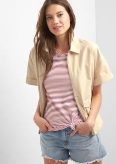 Short sleeve utility jacket