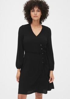 Gap Side-Button Wrap Dress