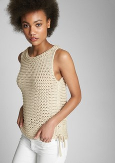 Gap Side-Tie Crochet Tank Top