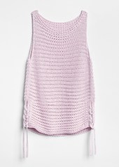 edbb0658a625a2 ... Gap Side-Tie Crochet Tank Top ...