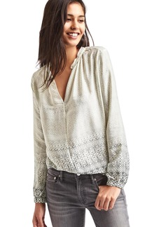 Gap Silky split-neck blouse