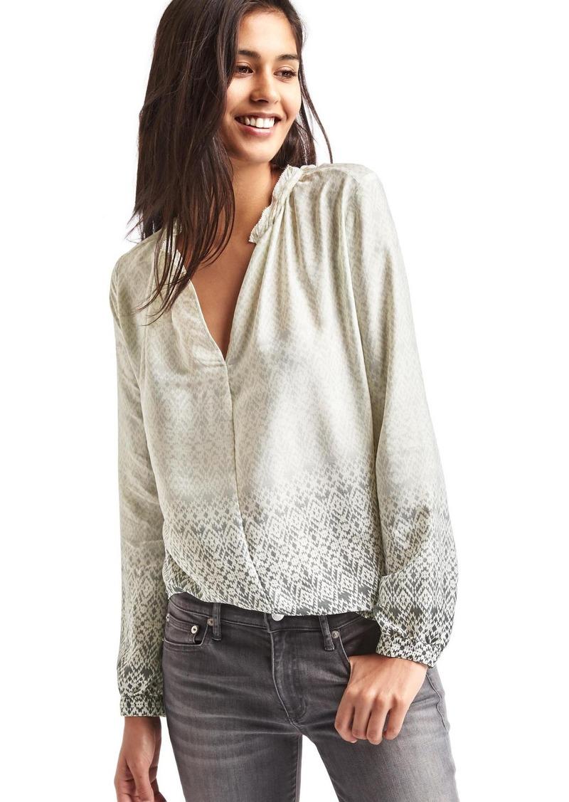 Gap Silky split-neck blouse