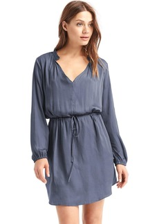 Silky split-neck dress