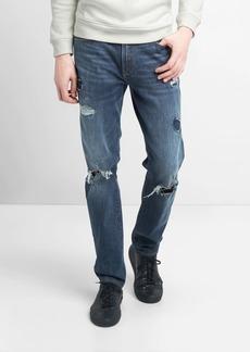 Gap Skinny fit destructed repair jeans