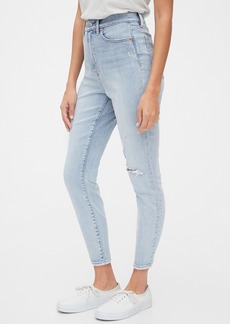 Gap Sky High Destructed Curvy True Skinny Ankle Jeans with Secret Smoothing Pockets