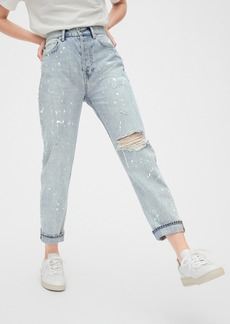 Gap Sky High Distressed Cheeky Straight Jeans