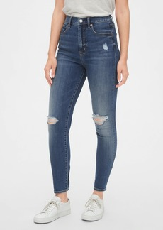 Gap Sky High Distressed True Skinny Jeans with Secret Smoothing Pockets