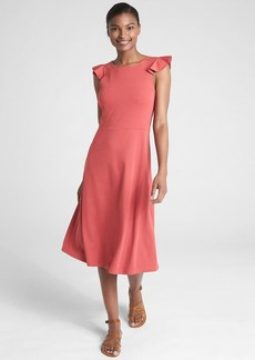 Gap Sleeveless Ruffle A-Line Dress