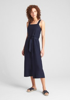 Gap Sleeveless Square-Neck Jumpsuit in Linen