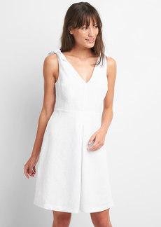 Sleeveless Tie-Shoulder Dress in Linen