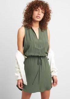 Gap Sleeveless Tie-Waist Bib Front Shirtdress