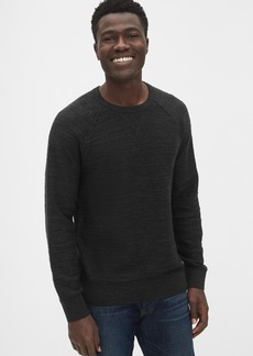Gap Slub Cotton Raglan Crewneck Sweater