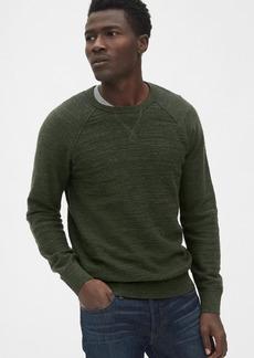Gap Slub Cotton Raglan Crewneck Sweater