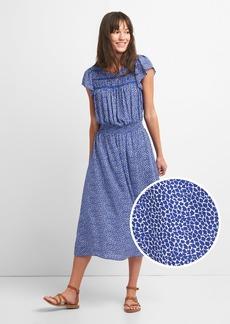 Gap Smock Midi Dress in Print